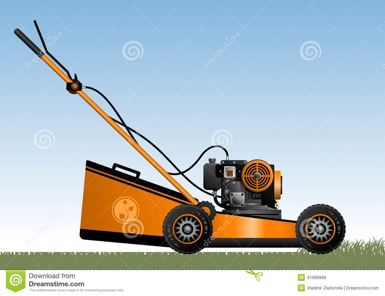 lawn mower vector - photo #41