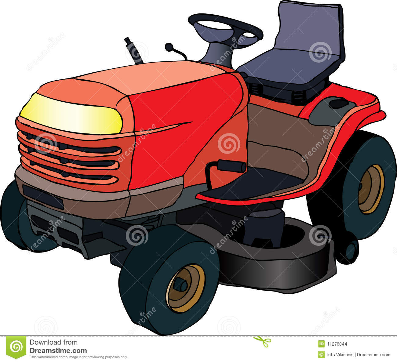 Lawn mower tractor stock vector illustration of technology 11276044 lawn mower tractor publicscrutiny Image collections