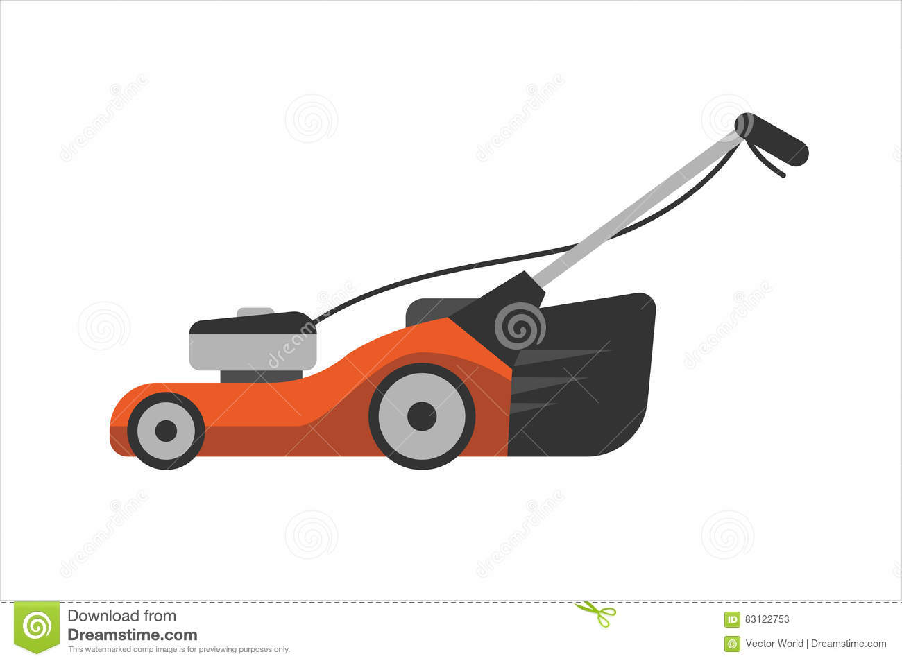 lawn mower vector - photo #17