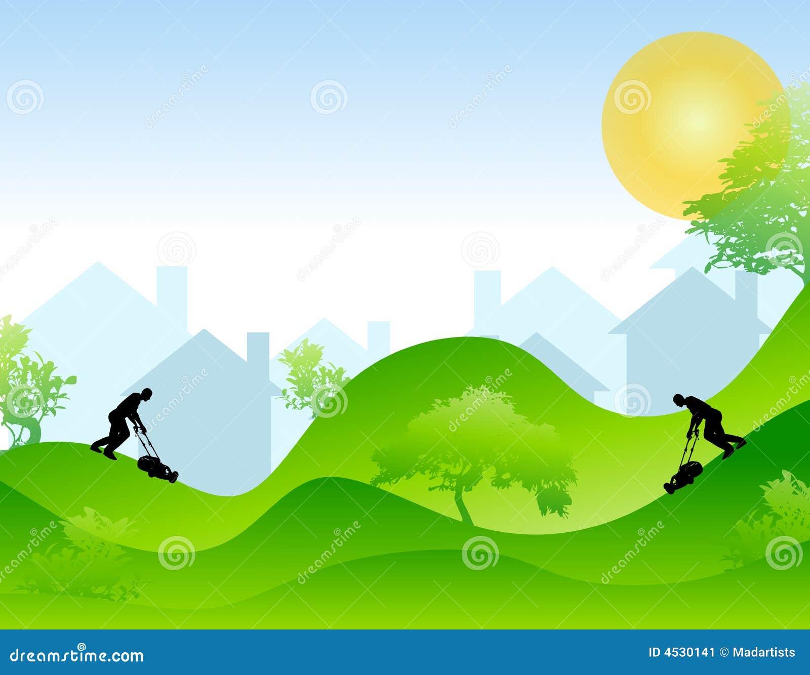 Lawn Mowing Season Stock Image Image 4530141