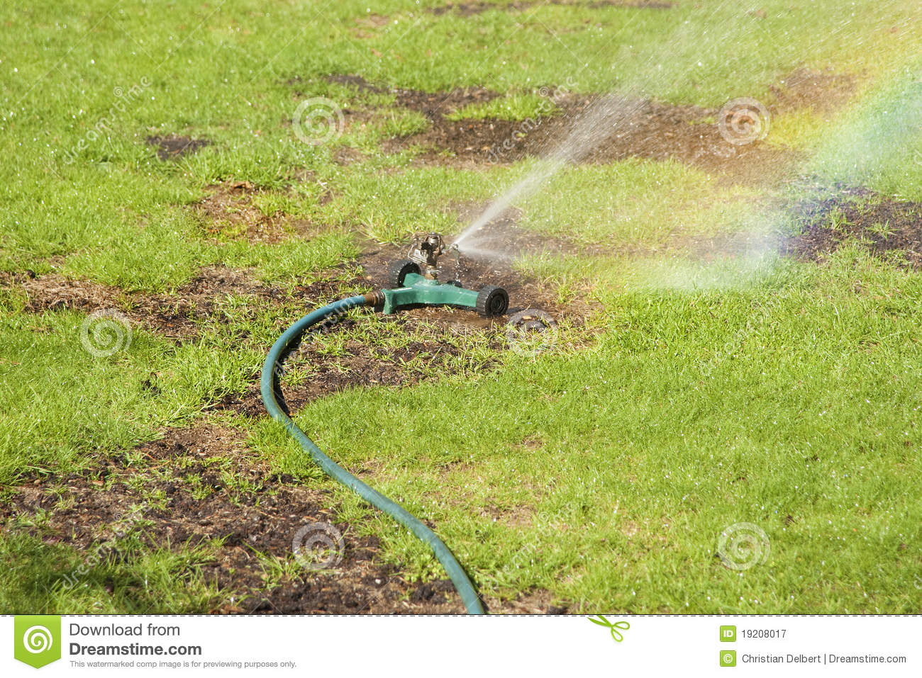 Lawn Watering Royalty Free Stock Photography Image 19208017