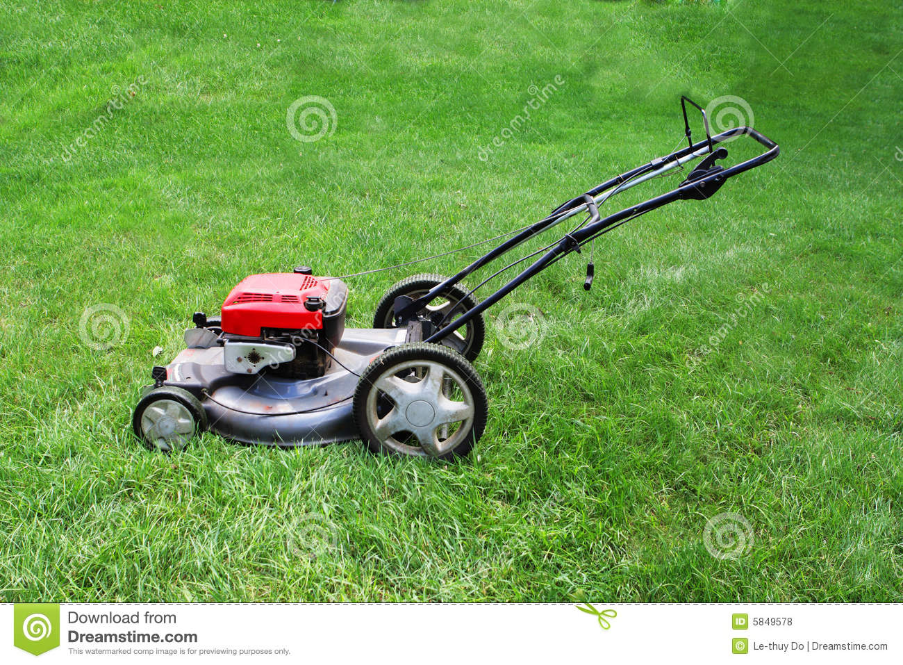 Lawnmower Stock Photo Image Of Tool Push Lawn Clip