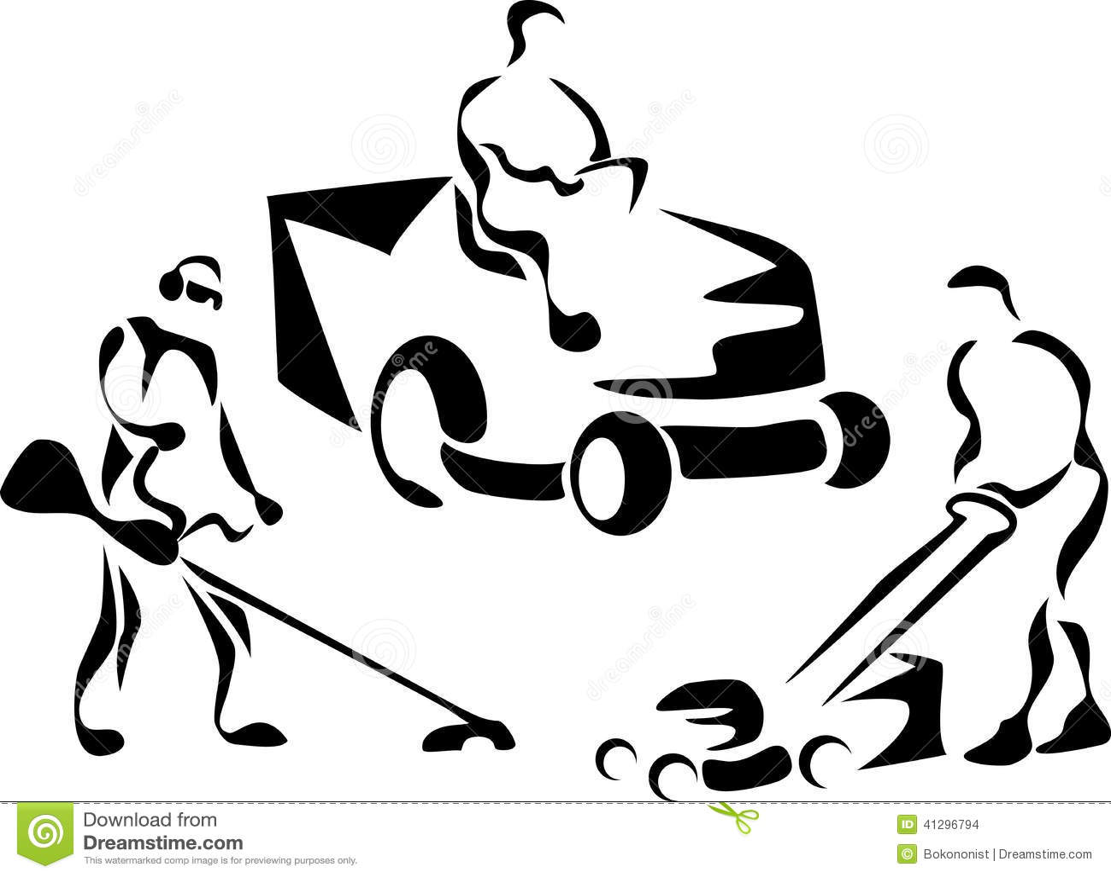 Lawnmower Stock Vector Image 41296794