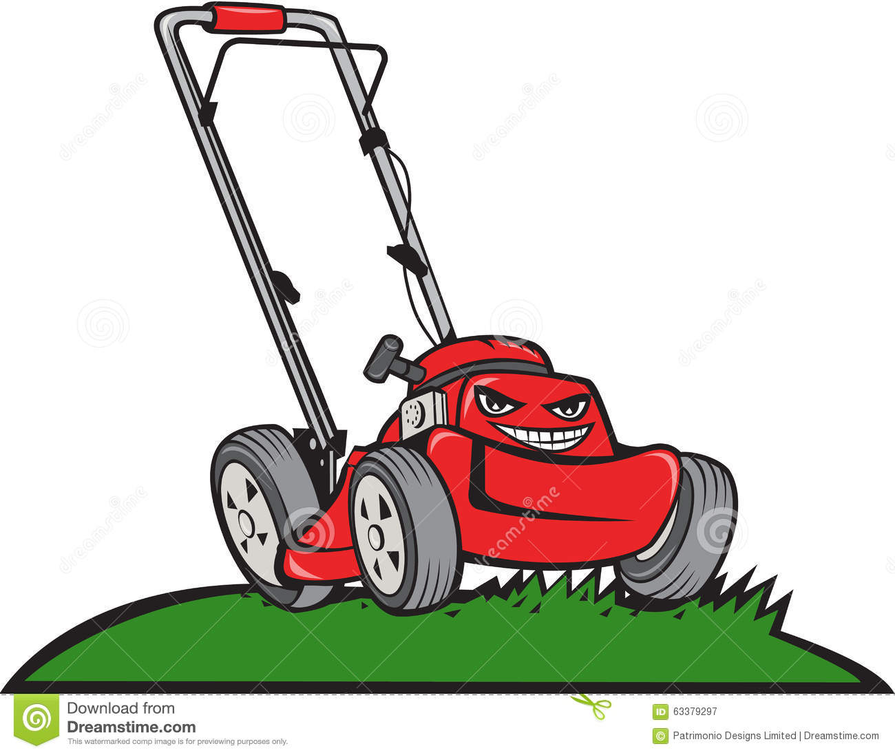 Lawnmower Front Isolated Cartoon Stock Vector Image