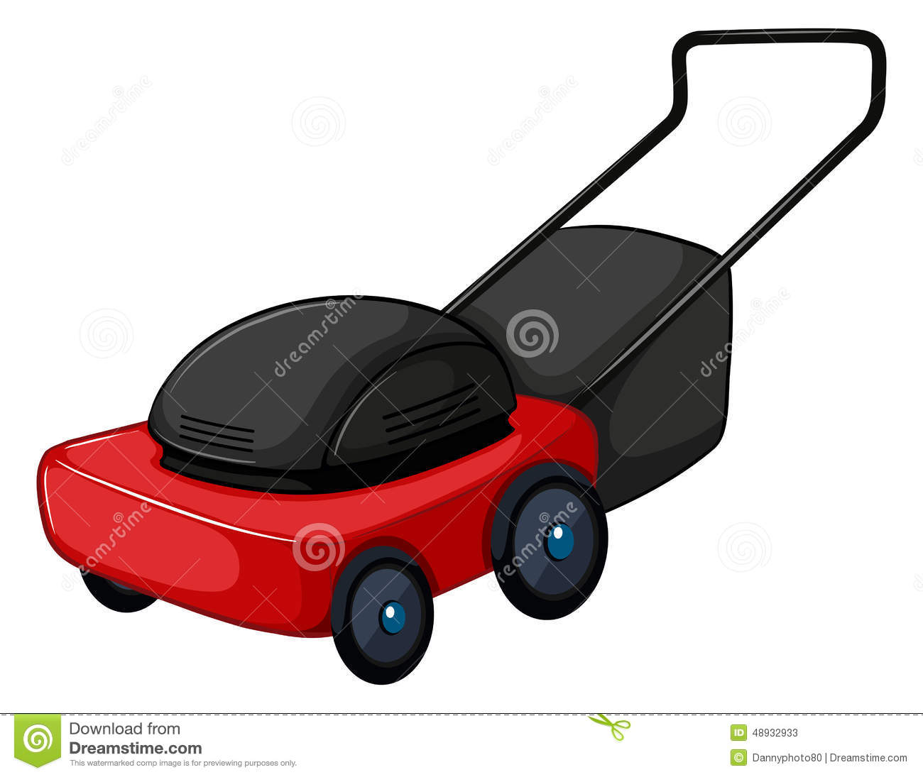 Lawnmower Illustration Vector Illustration | CartoonDealer ...