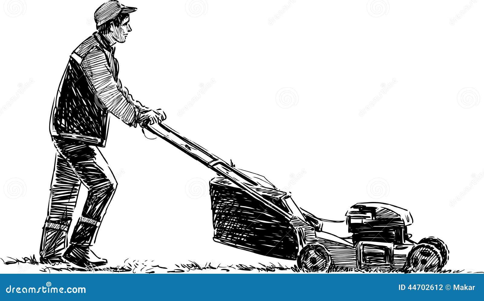 Mower Drawing Lawnmower Mower Drawing O