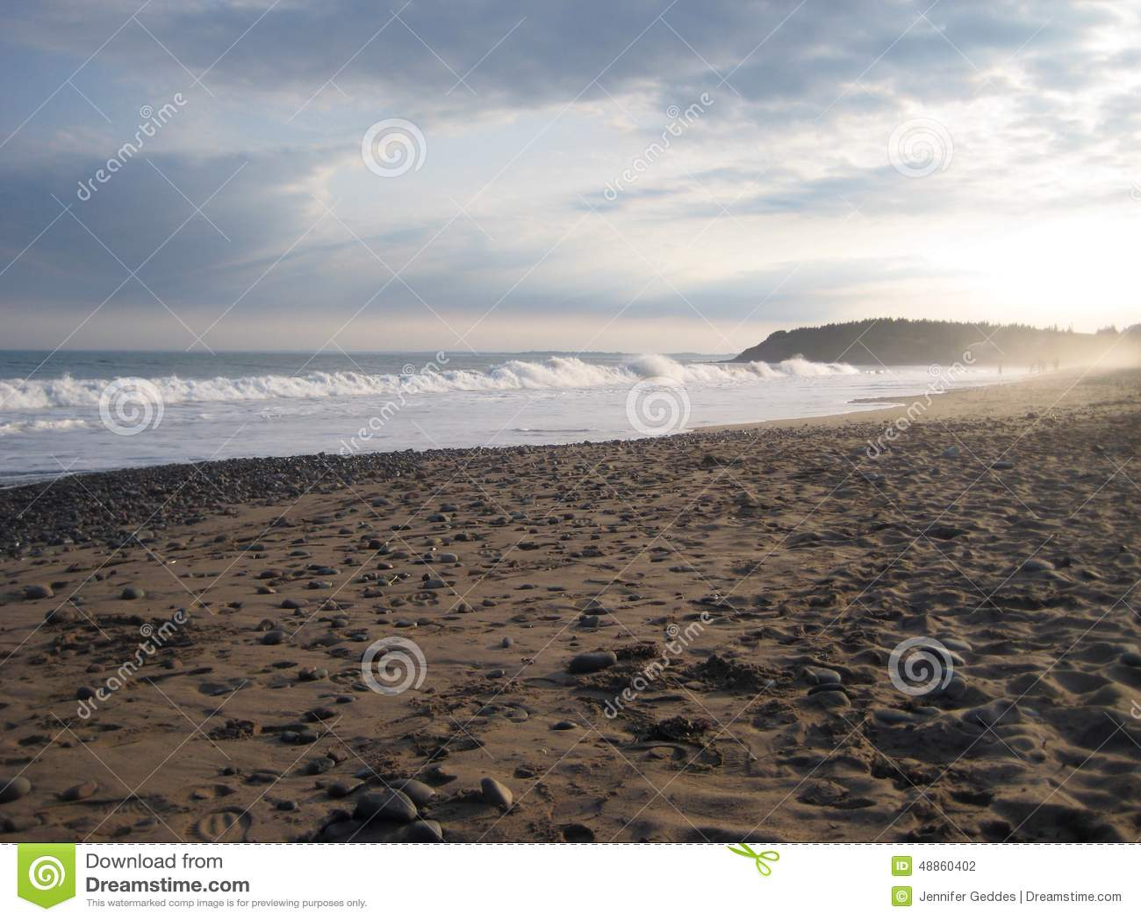 Lawrencetown plaża w położenia słońcu