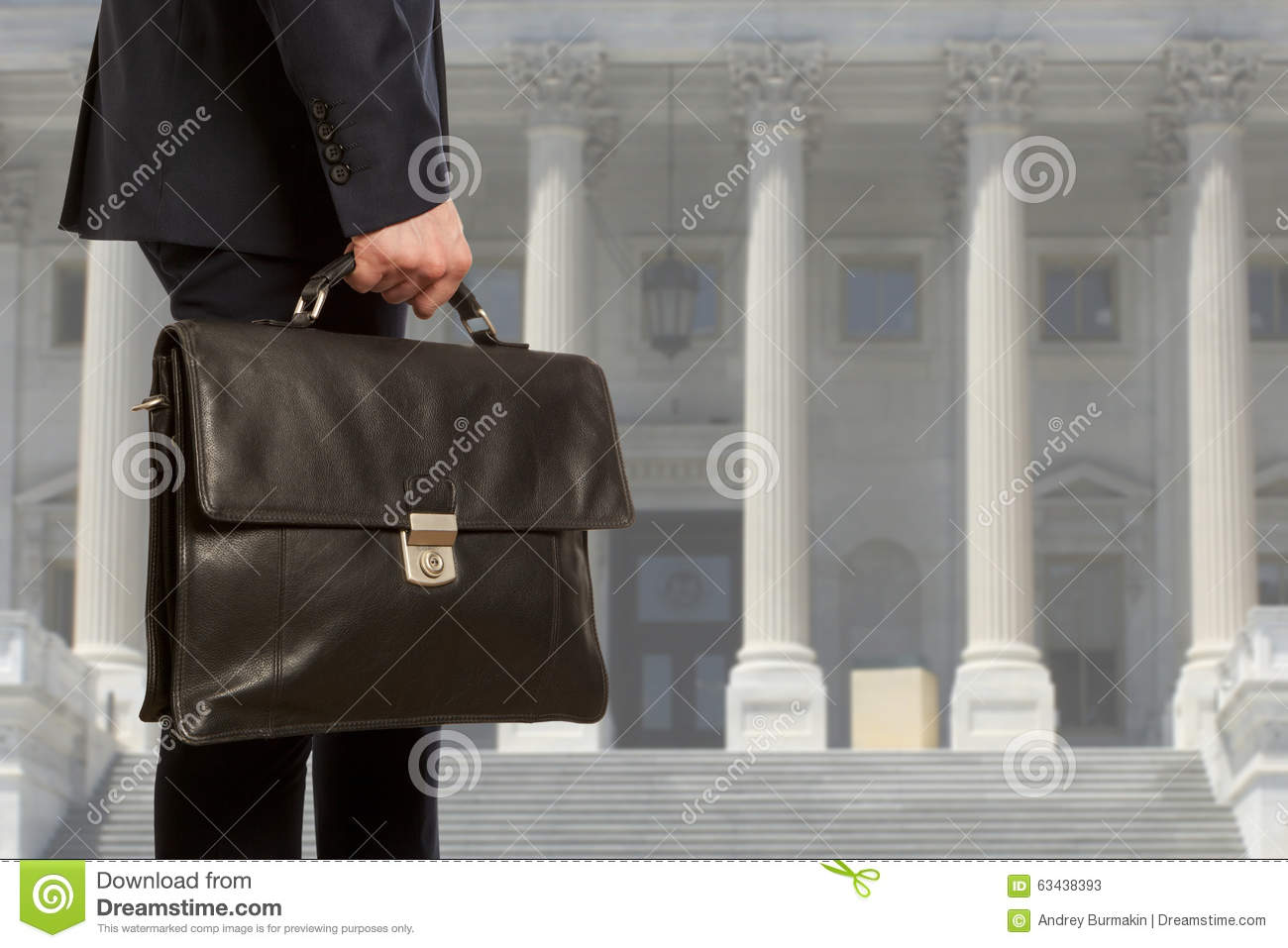 The lawyer with a briefcase