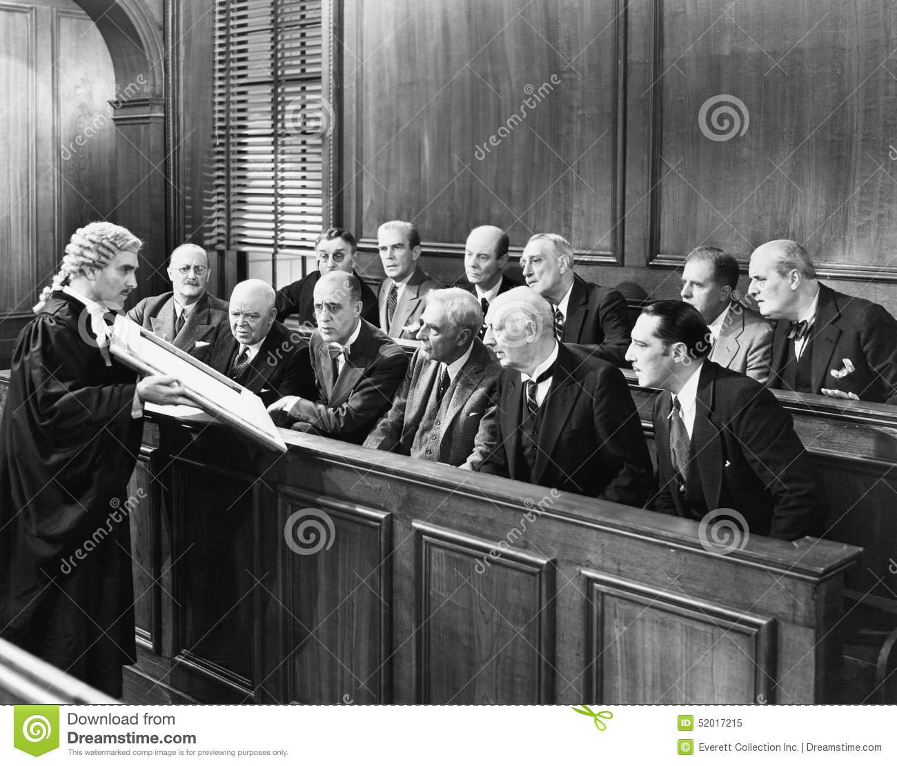 Lawyer Showing Evidence To The Jury Stock Photo Image
