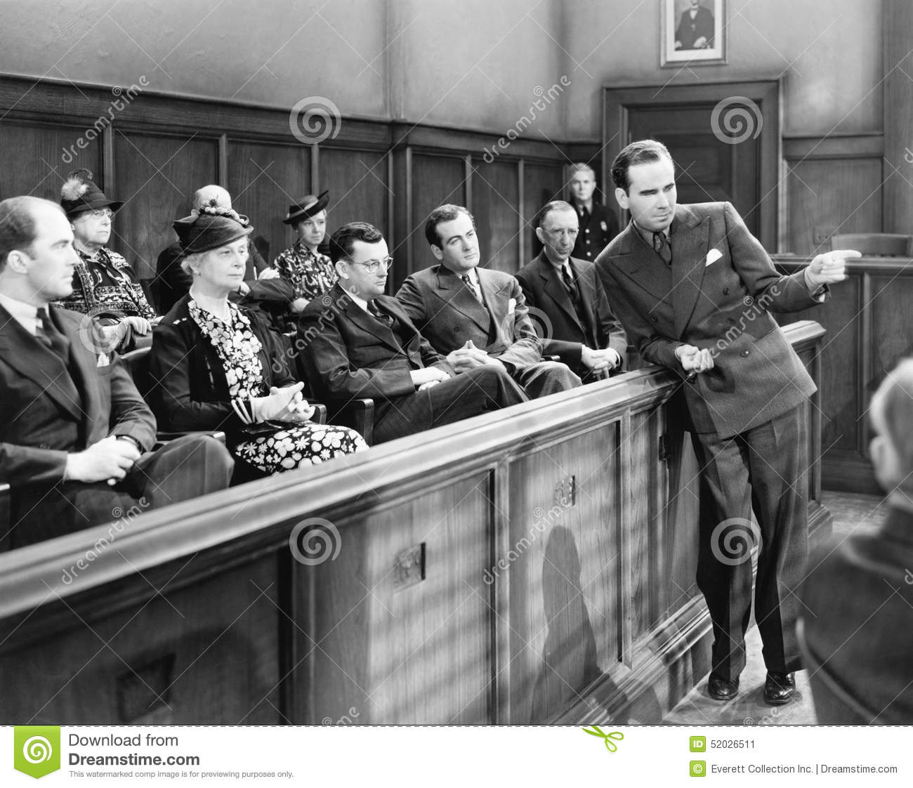 Lawyer talking to the jury