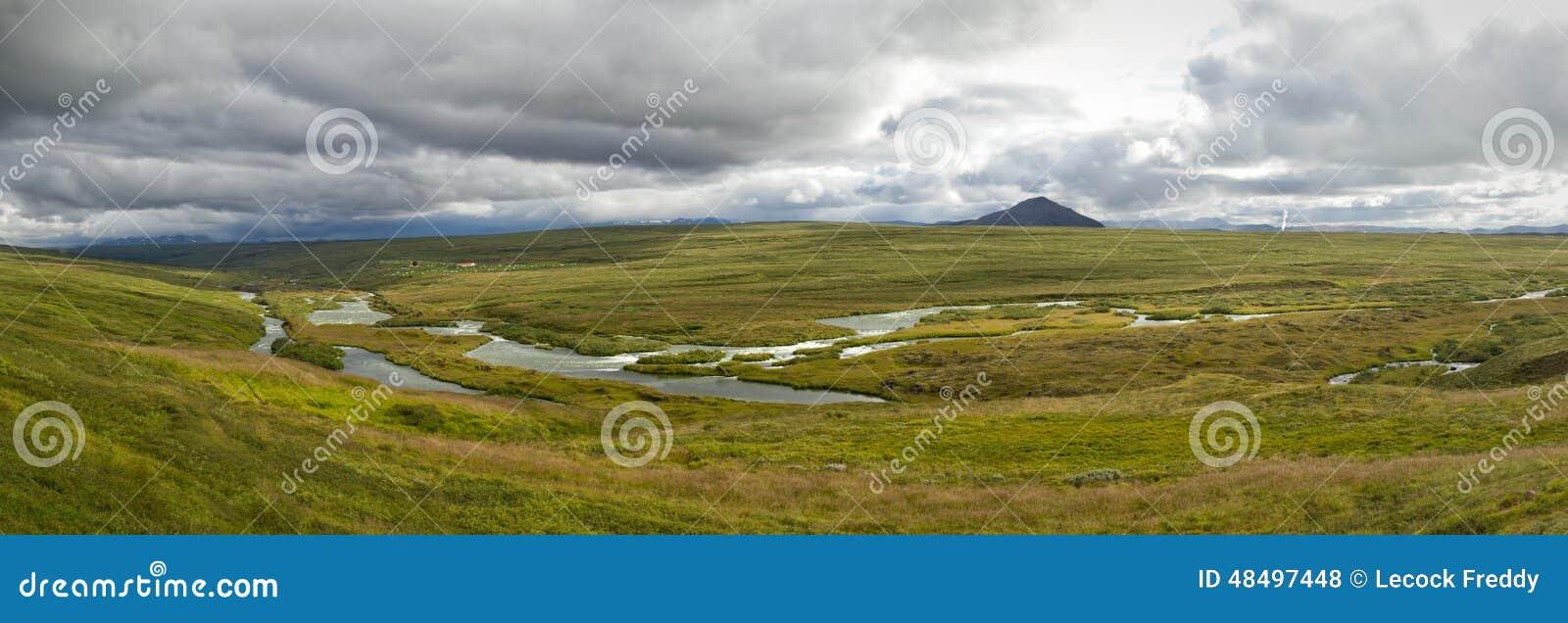 Laxa river panorama