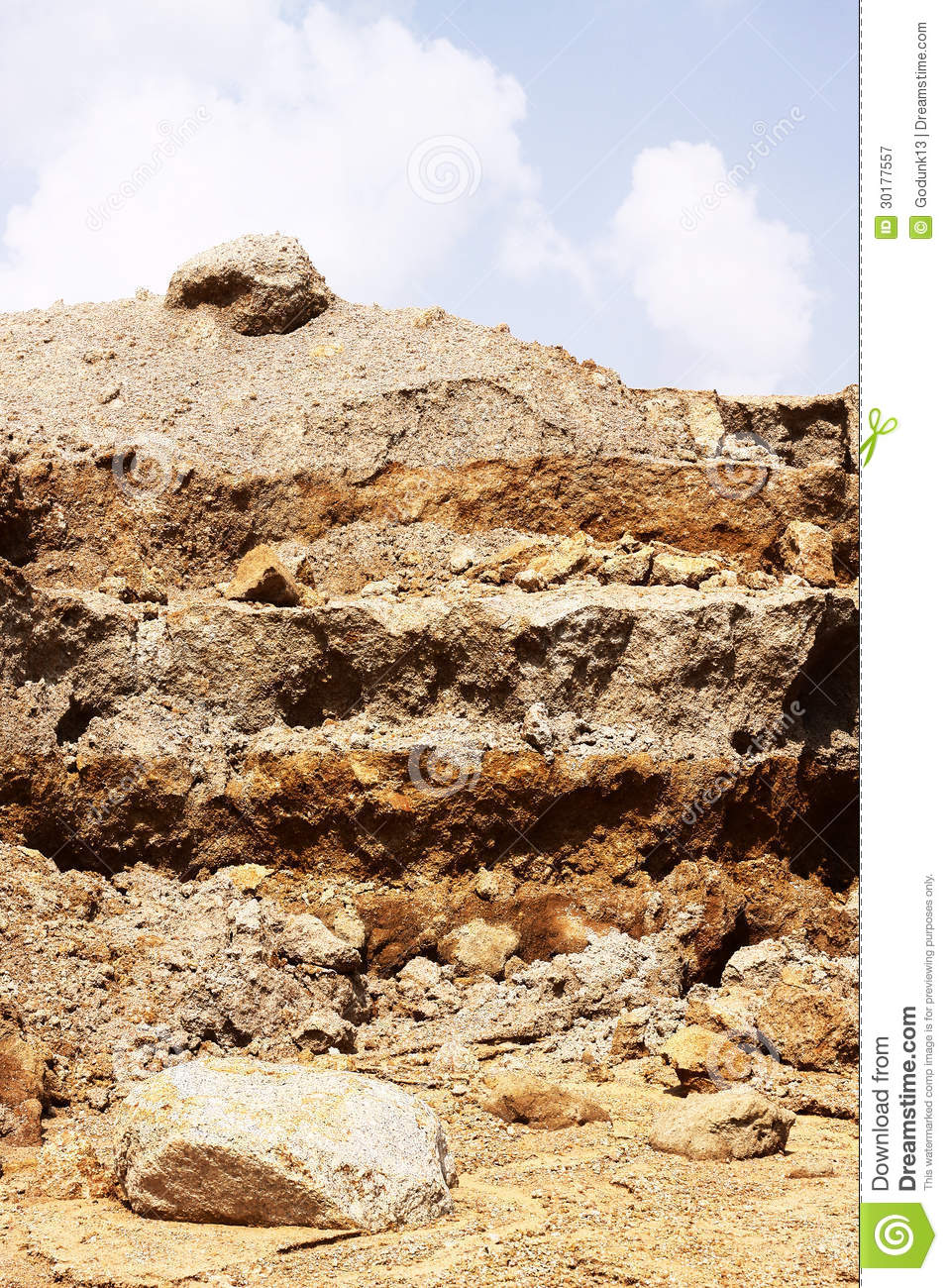 Construction Site Soil : Layer of soil royalty free stock photography image