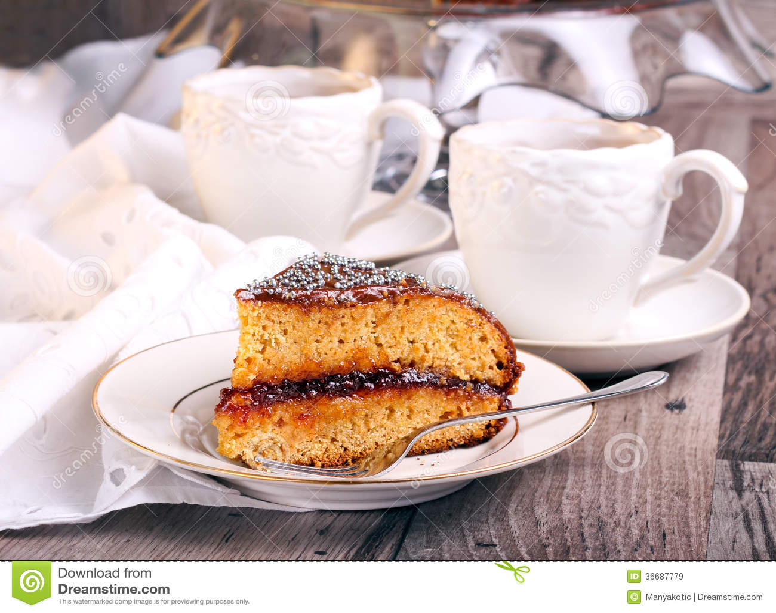 Jelly Glaze Recipe For Cake: Layer Spicy Cake With Jam Stock Image. Image Of Glaze