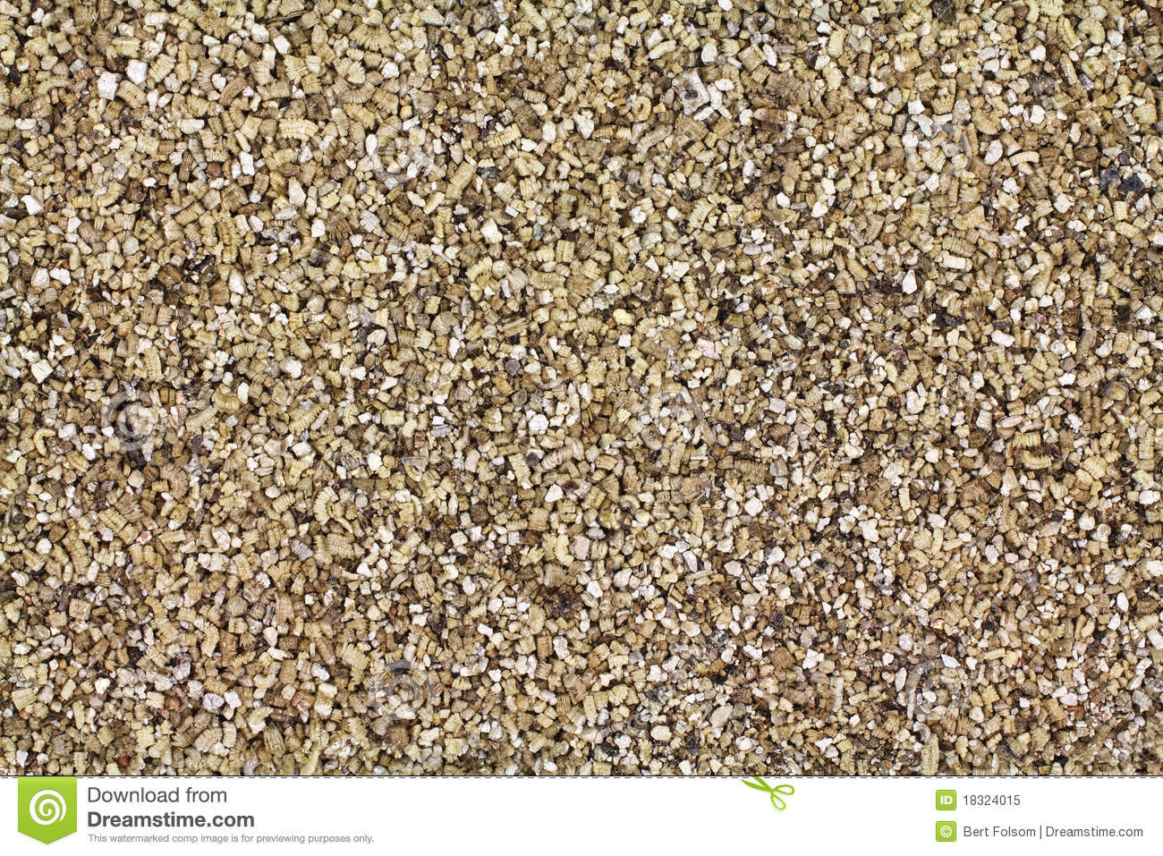 Layer of vermiculite stock image. Image of view, mineral - 18324015