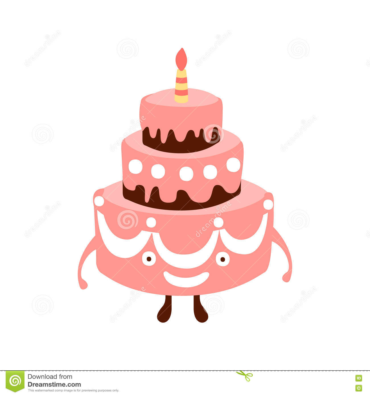 Girl Frosting A Cake Image Cartoon
