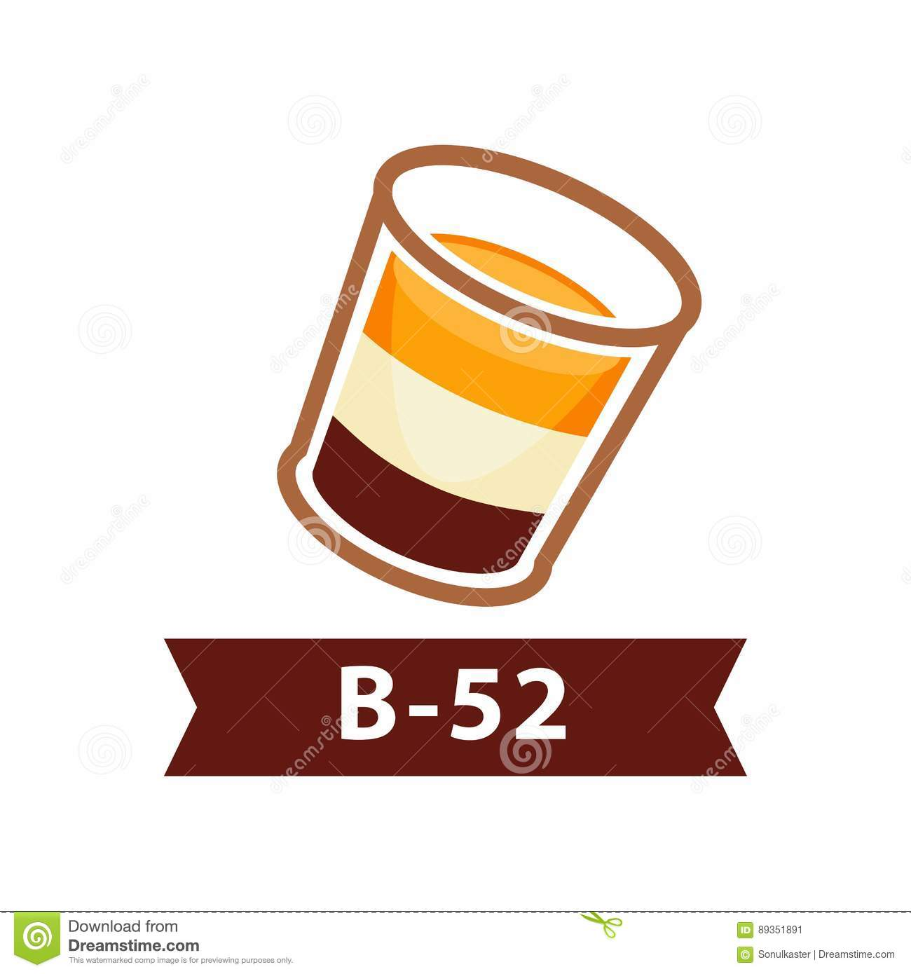 B-52 Drink Royalty-Free Stock Image