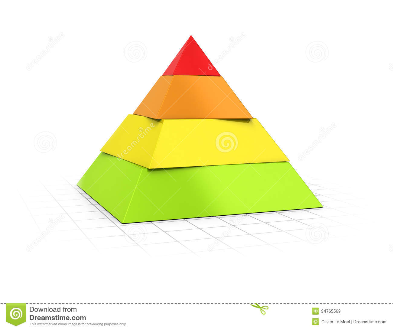 Free Floor Plans Layered Pyramid Four Levels Stock Illustration