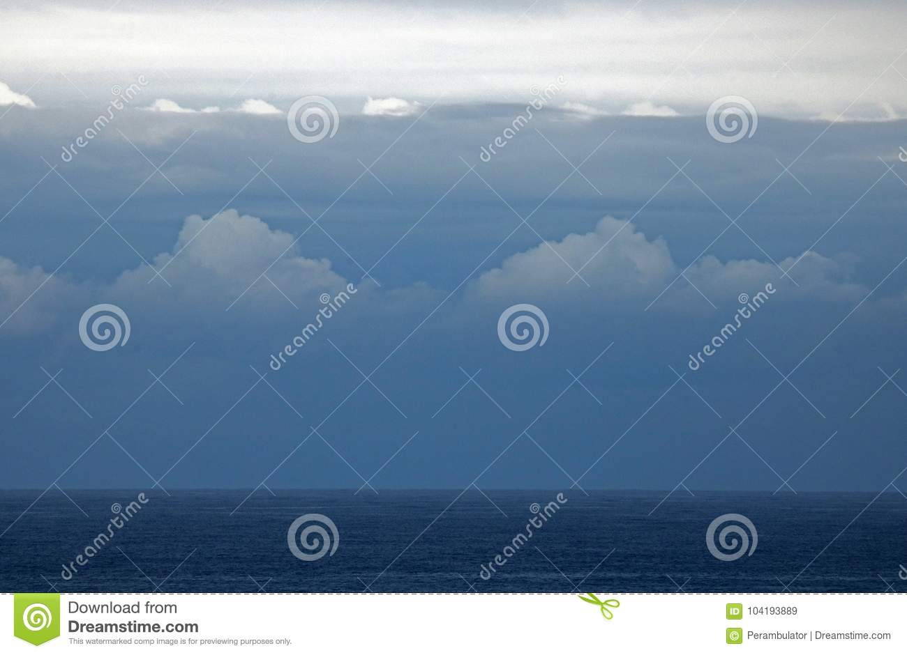 LAYERS OF CLOUD OVER THE OCEAN