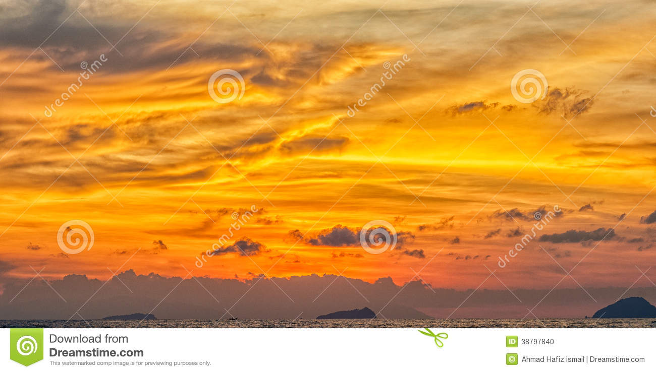 Layers of Colors during Sunset