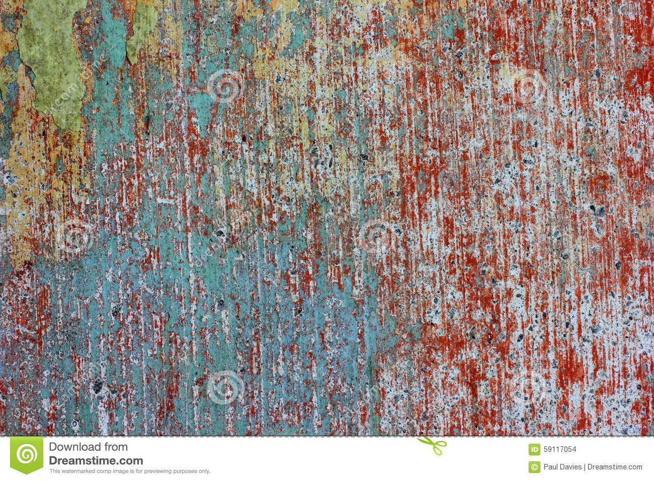 Layers Of Old Paint Stock Photography