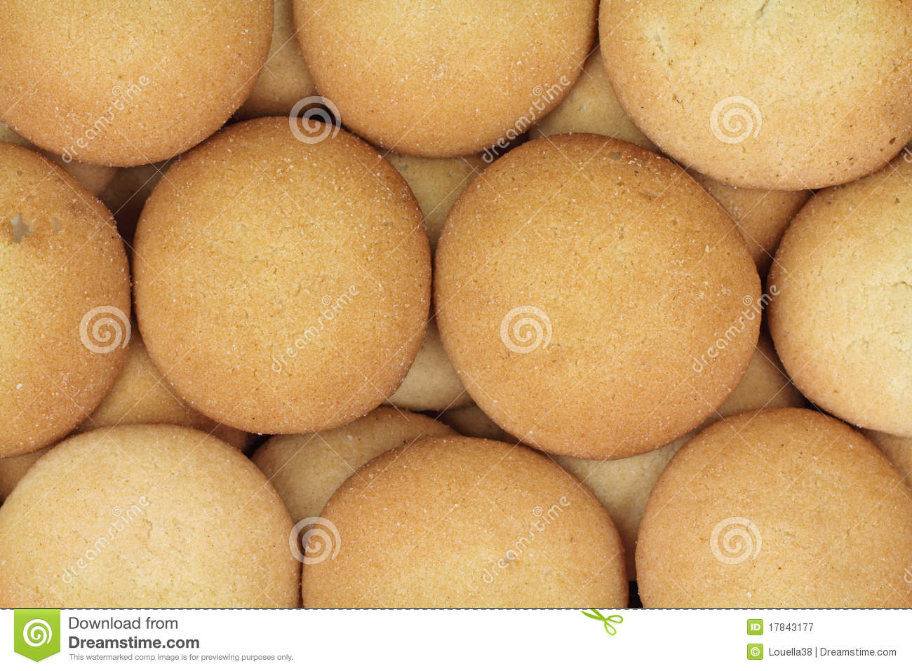 Layers Round Vanilla Wafers Royalty Free Stock Photography - Image ...