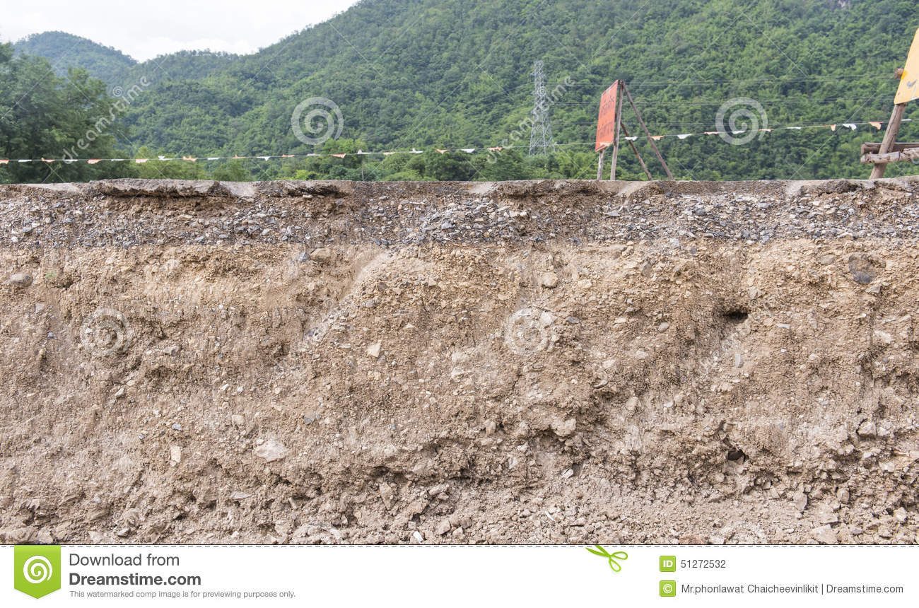Layers of soil stock photo image of dirt background for Earth soil layers