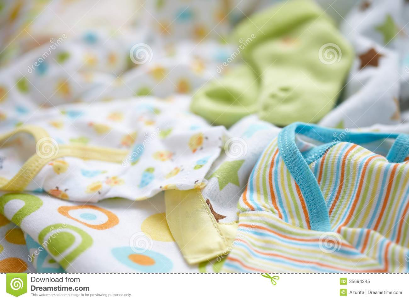 Layette For Newborn Baby Boy Stock Image Image 35694345