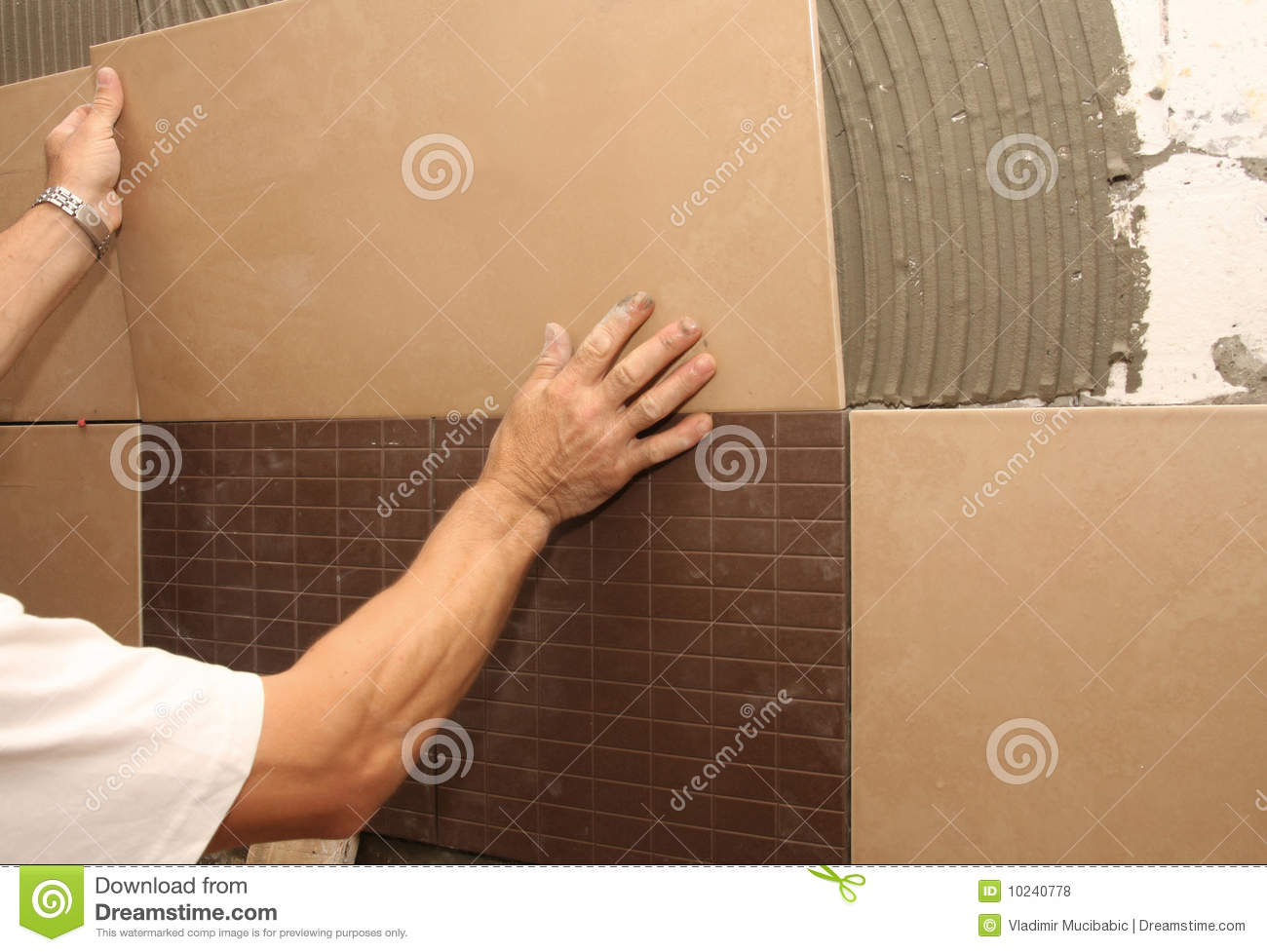 Laying ceramic tile on wall  Laying Ceramic Tile On Wall Royalty Free Stock  Photos Image. Ceramic Tile On Walls