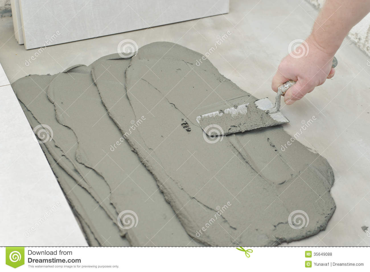 Laying ceramic tiles stock photo image of building up 35649088 laying ceramic tiles dailygadgetfo Image collections