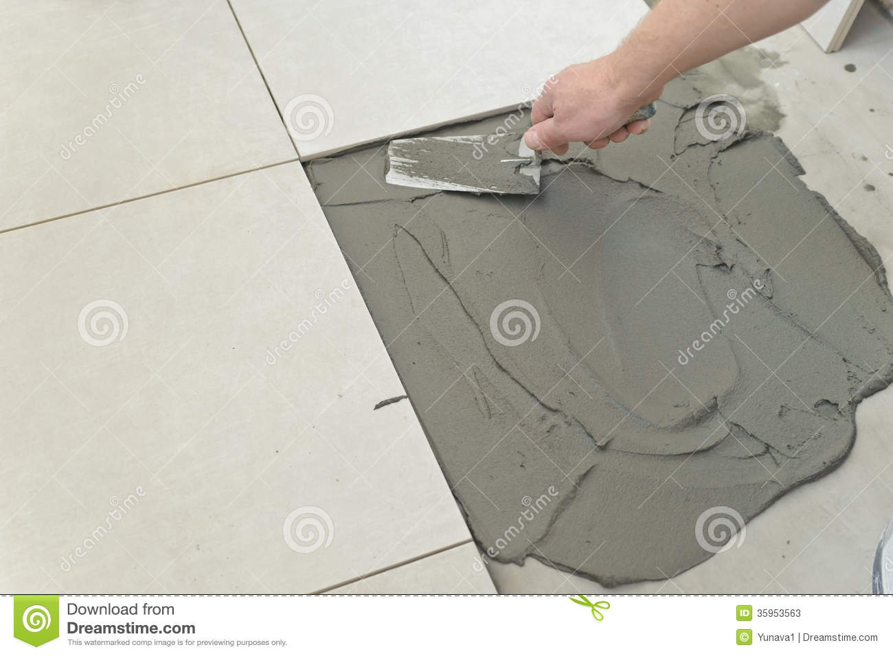 Laying ceramic tiles stock image image of floor industry 35953563 laying ceramic tiles dailygadgetfo Gallery