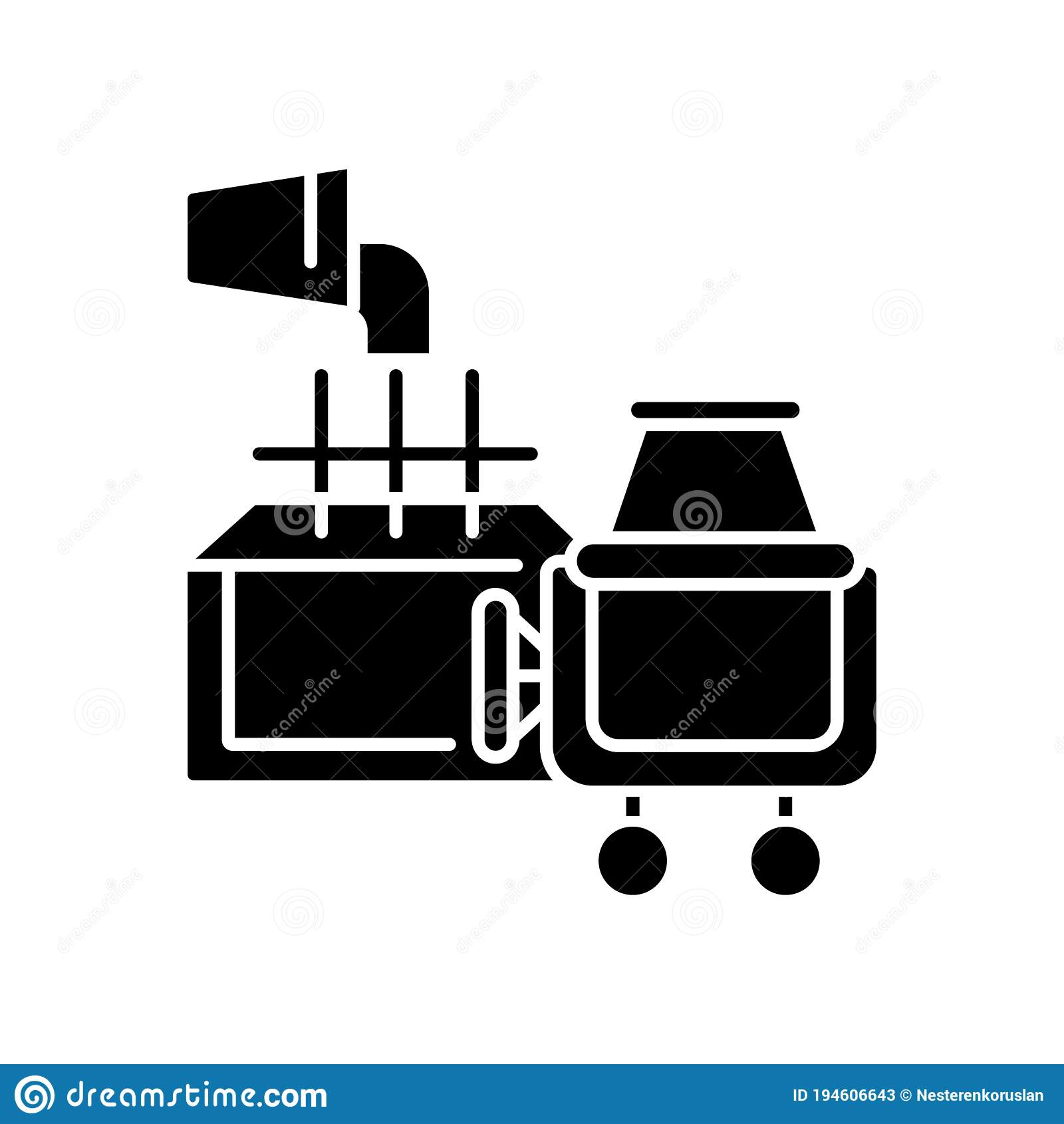 Laying Foundation Black Glyph Icon Stock Vector Illustration Of Foundation Block 194606643