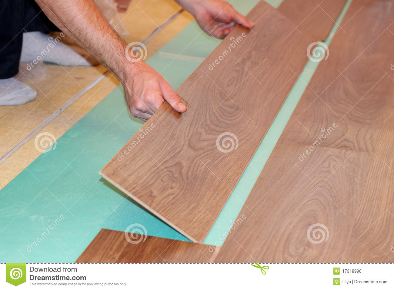 laying laminate flooring royalty free stock image image
