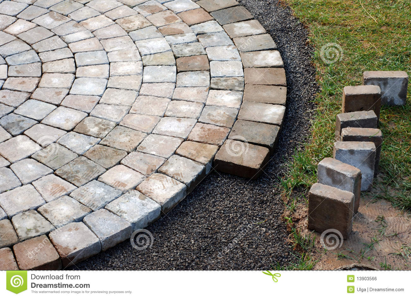 Royalty Free Stock Photo. Download Laying Patio Bricks ...