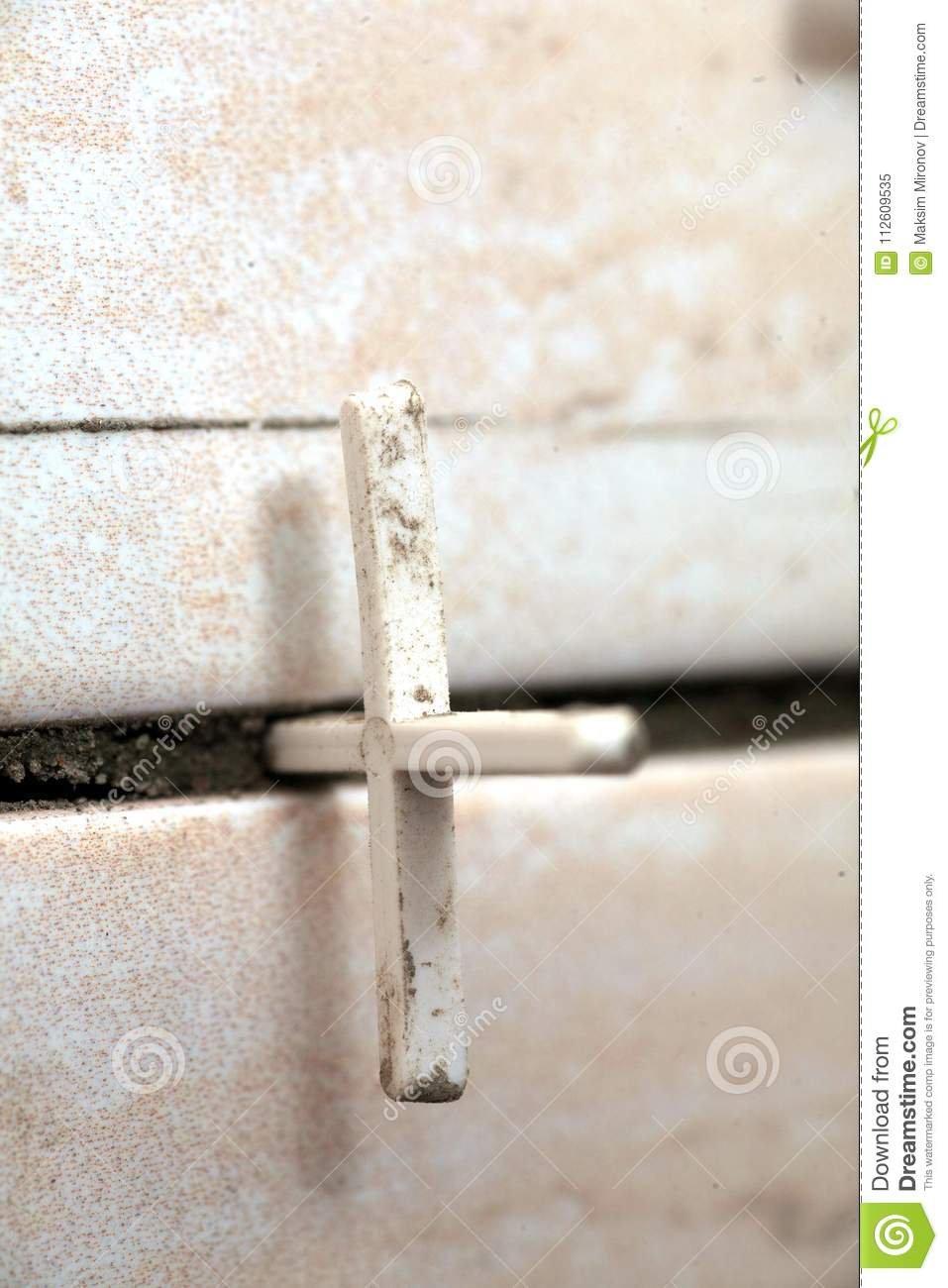 Ceramic Tiles On Bathroom Walls Stock Image Image Of Construction