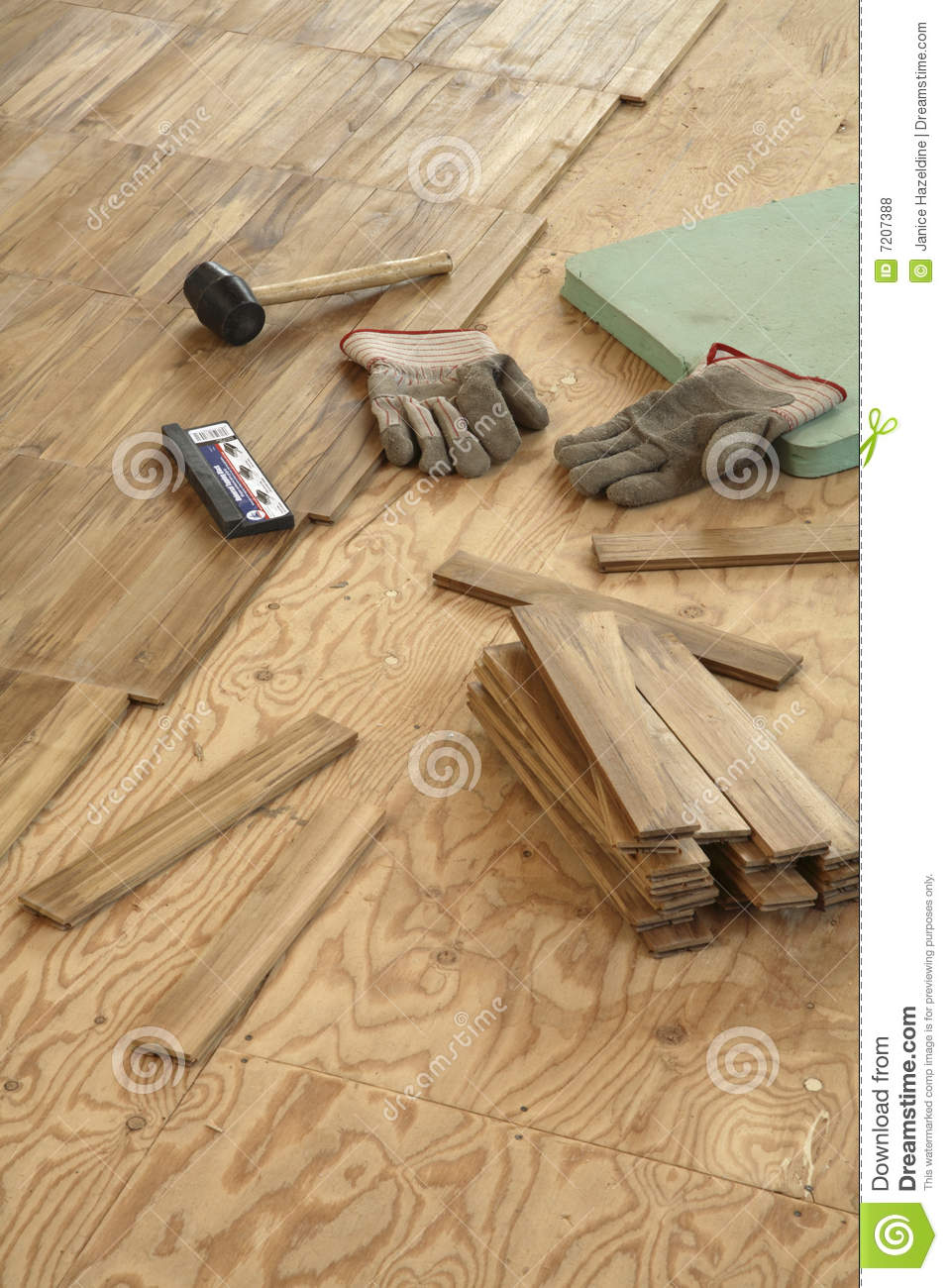 Laying Wood Flooring Stock Photo Image Of Labor Home