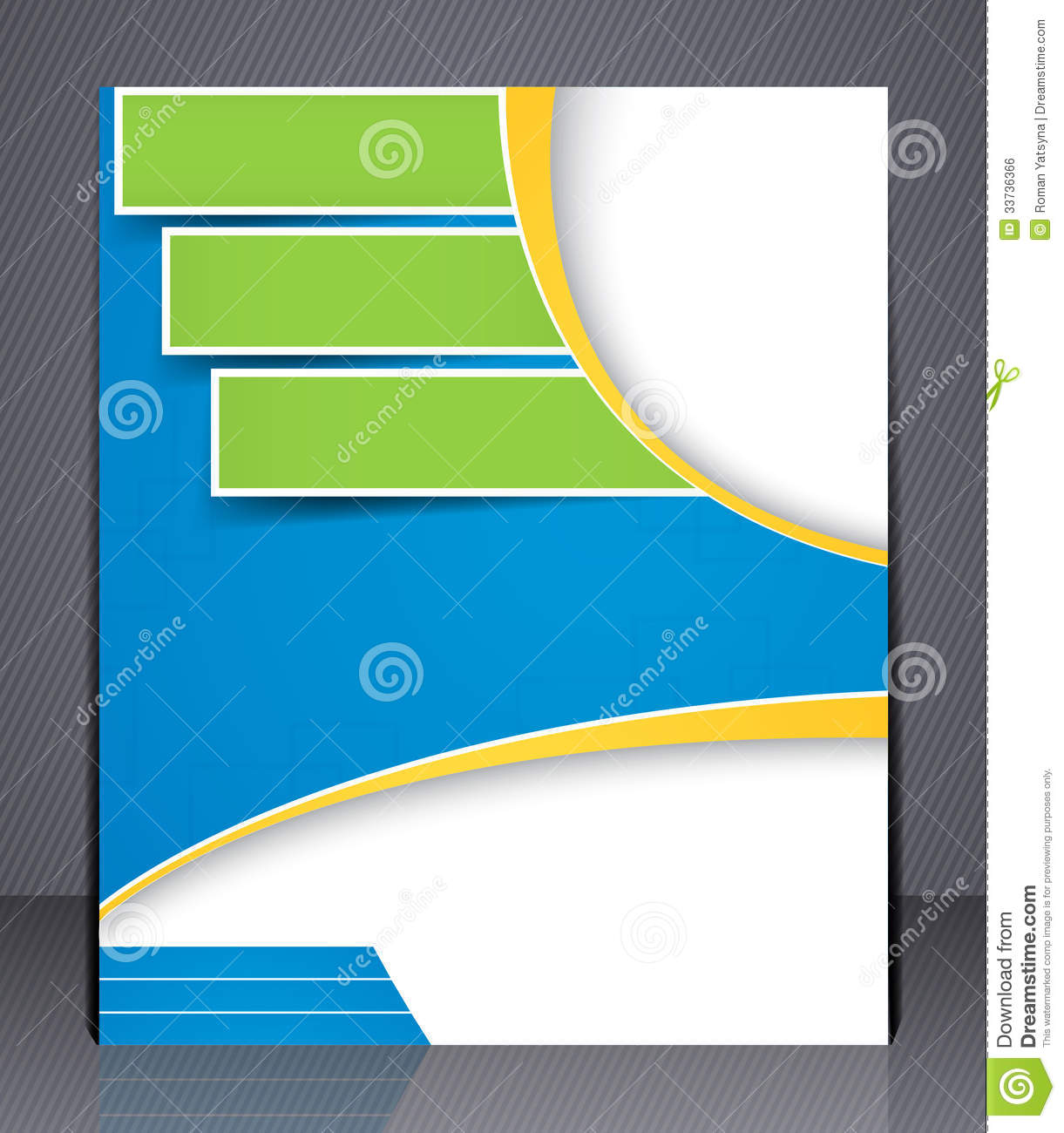 layout business brochure template or magazine co stock vector