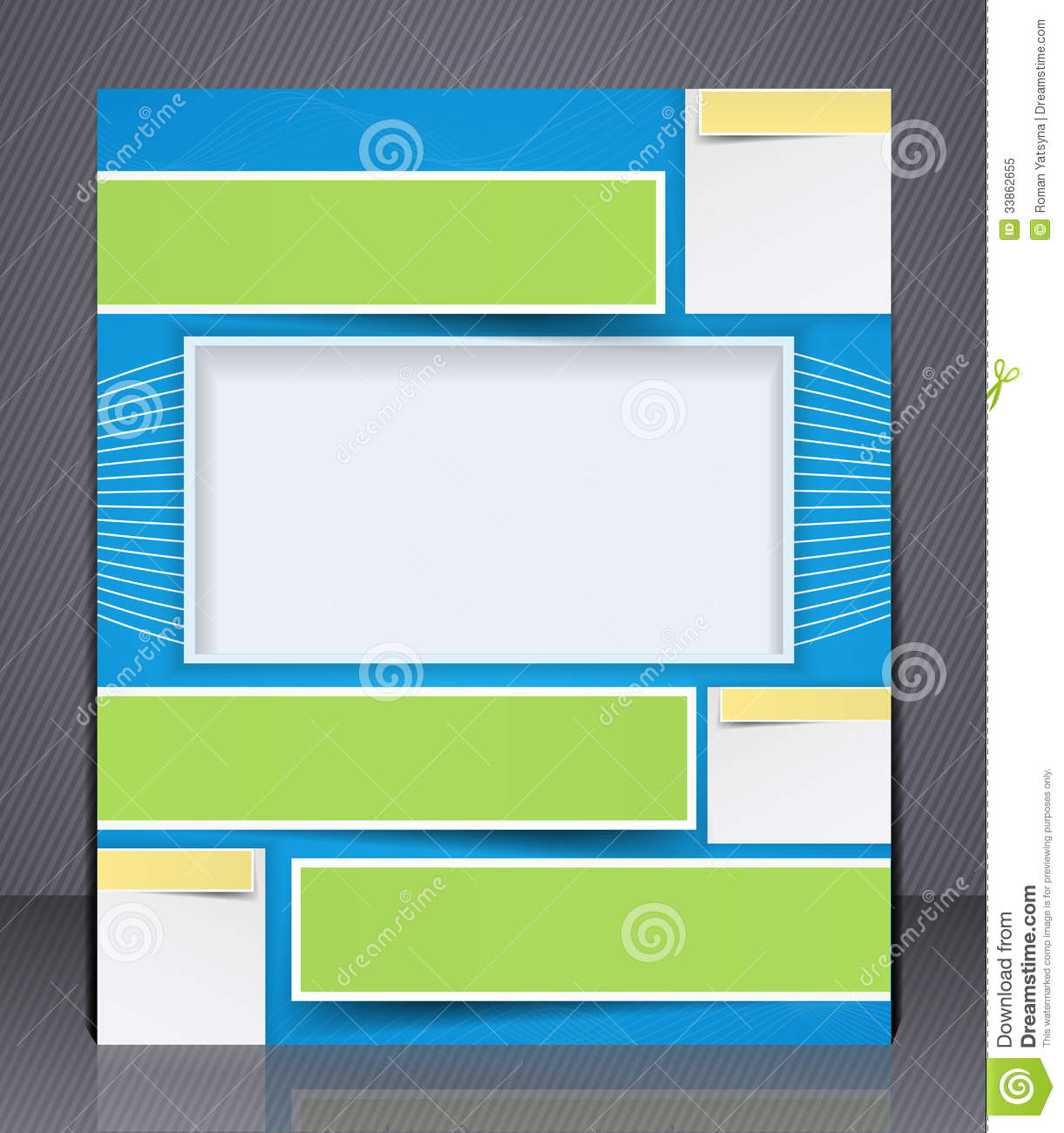 Layout business brochure template or a magazine stock for Magazine layout templates free download