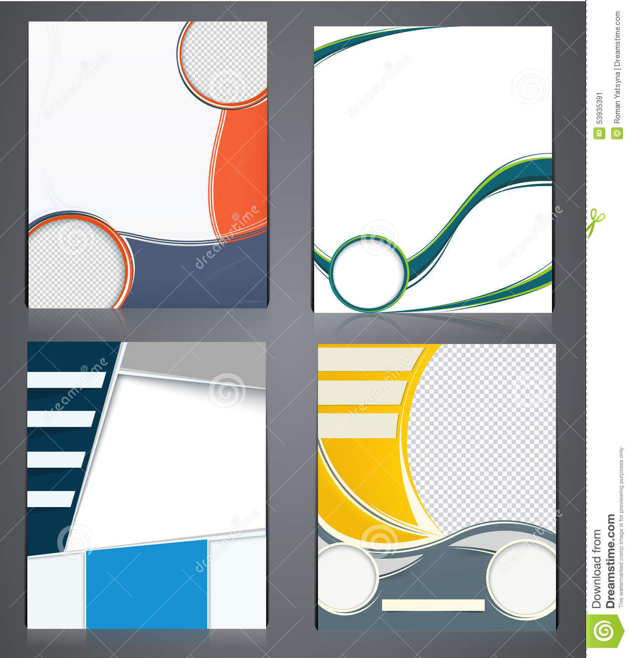 Abstract Modern Template Book Cover : Layout business brochures flyer design template in a