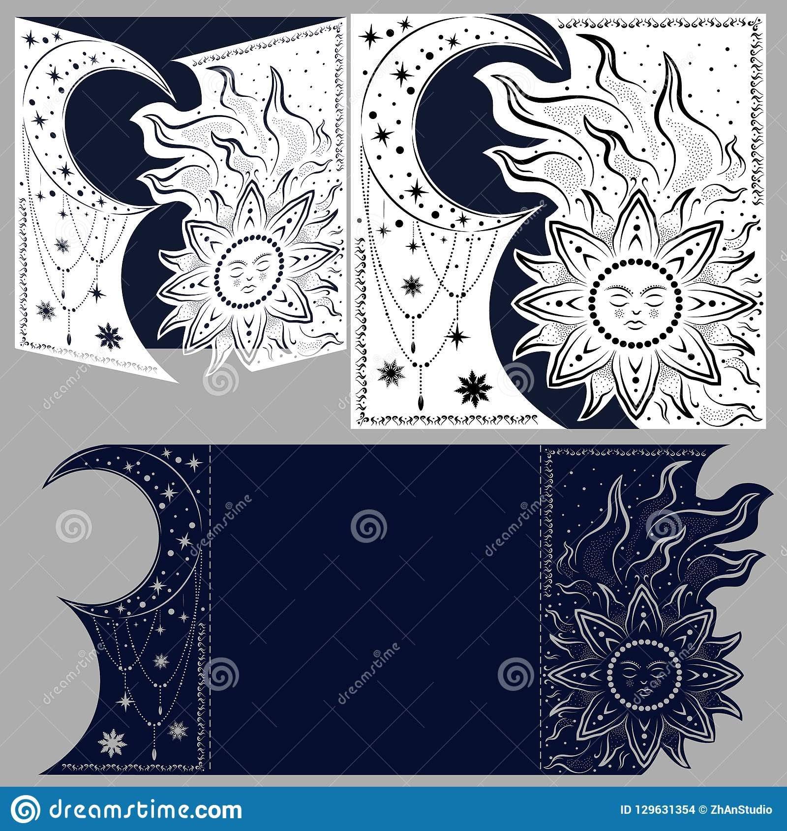 Layout congratulatory envelope with carved pattern. The template