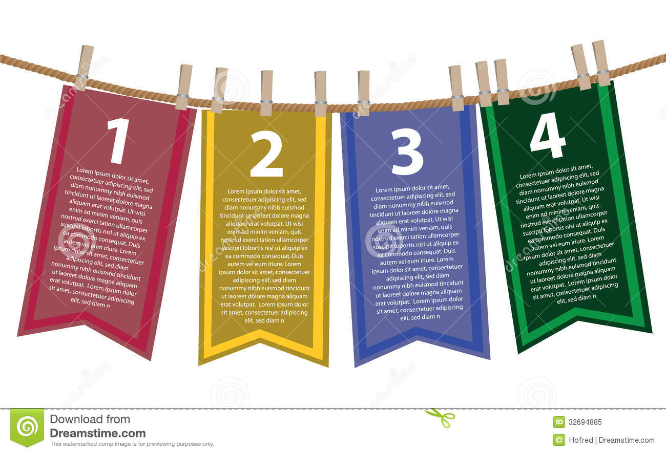 Layout design of hanging banners stock vector - Text banner design ...