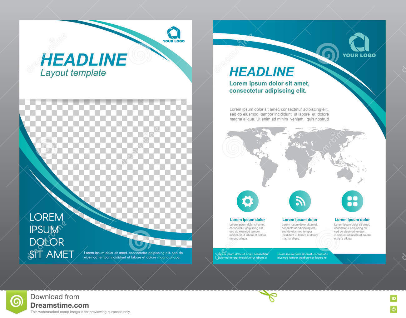 Layout Flyer Template Size A4 Cover Page Stock Vector - Image ...