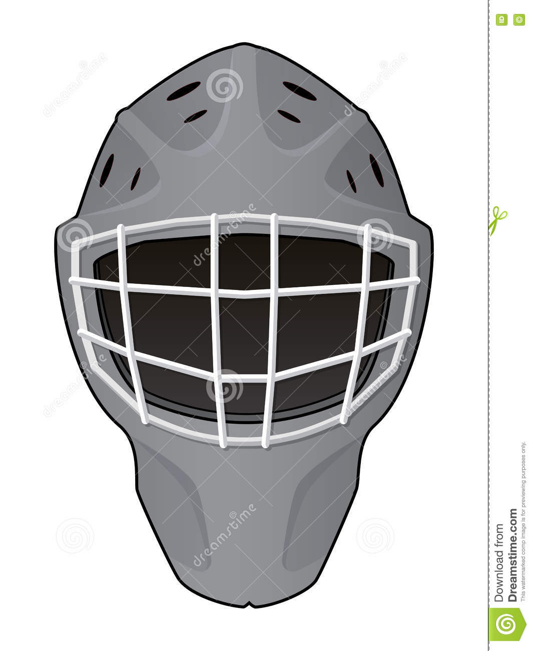 Layout Of Hockey Goalie Helmet Stock Vector - Illustration ...