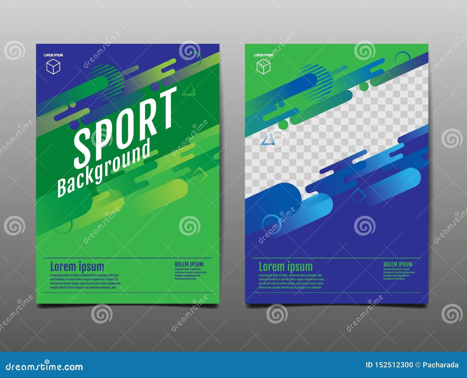 Layout template Design, Sport Background, Dynamic Poster, Banner, Vector Illustration