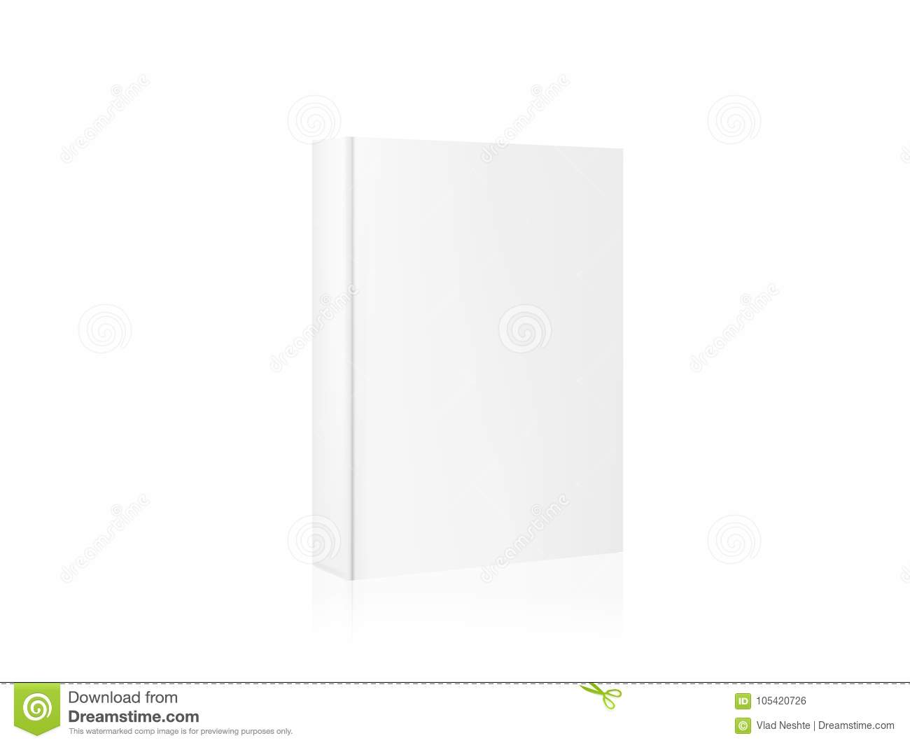 Layout Template Mockup Book For Your Design A Realistic 3d Book