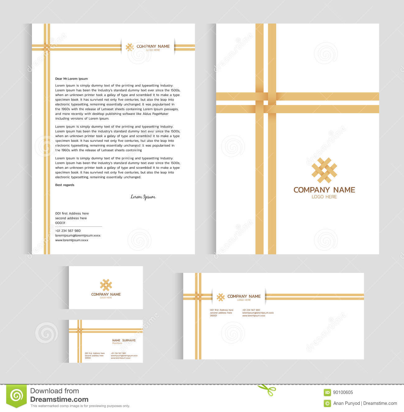Layout template size a4 cover page business card and letter layout template size a4 cover page business card and letter bamboo weaving cross vector accmission Gallery