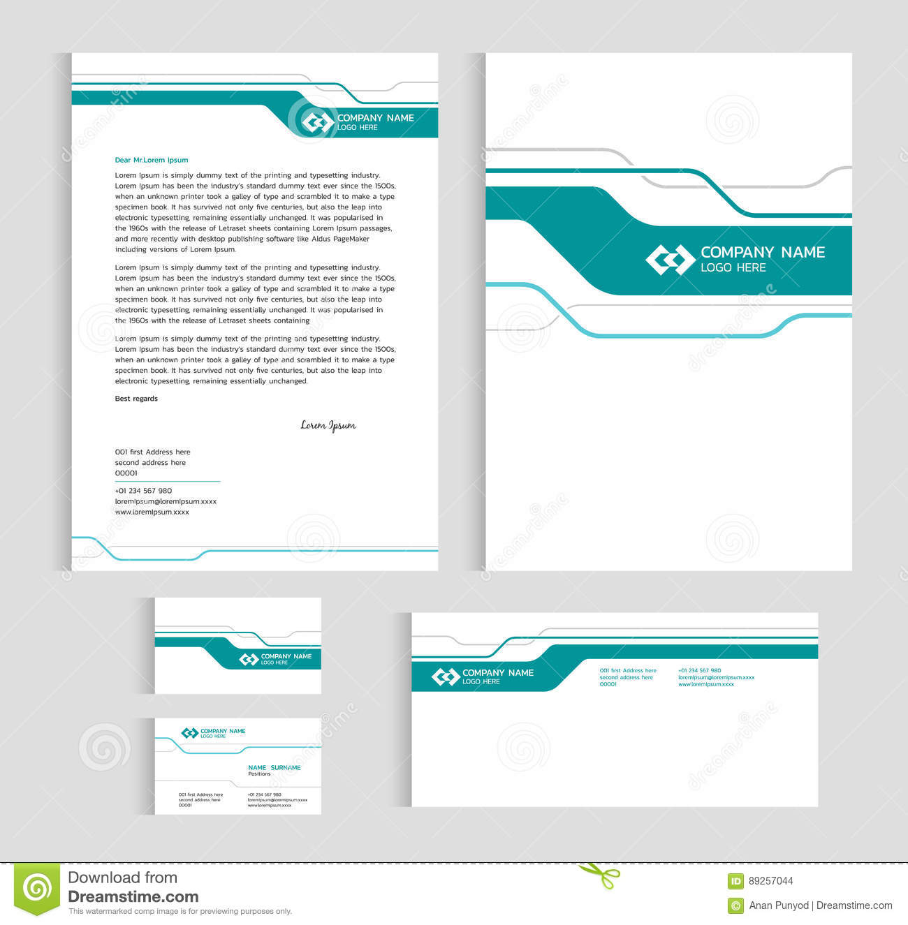 Layout template size a4 cover page business card and letter green layout template size a4 cover page business card and letter green line sharp abstract cheaphphosting Images