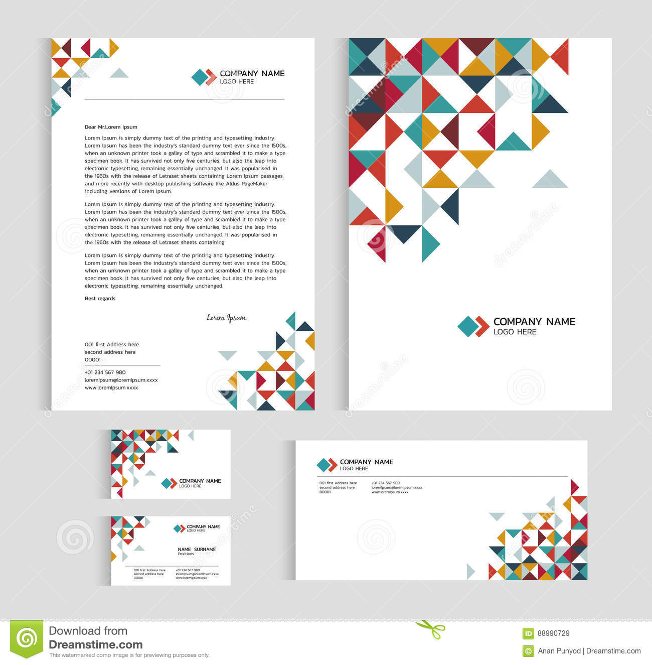 letter page size layout template size a4 cover page business card and 48700