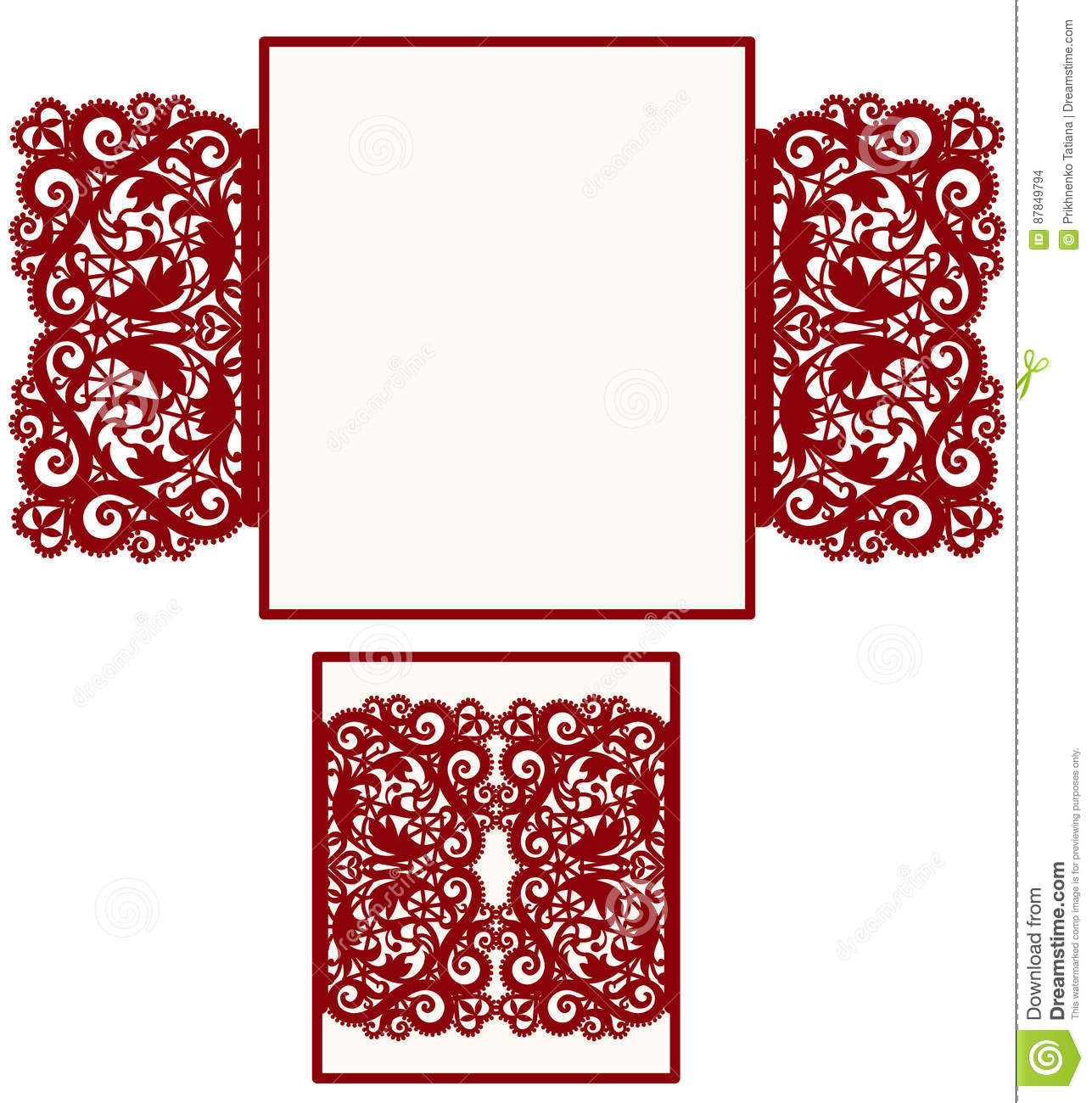 Layout wedding invitation stock vector. Illustration of pattern ...