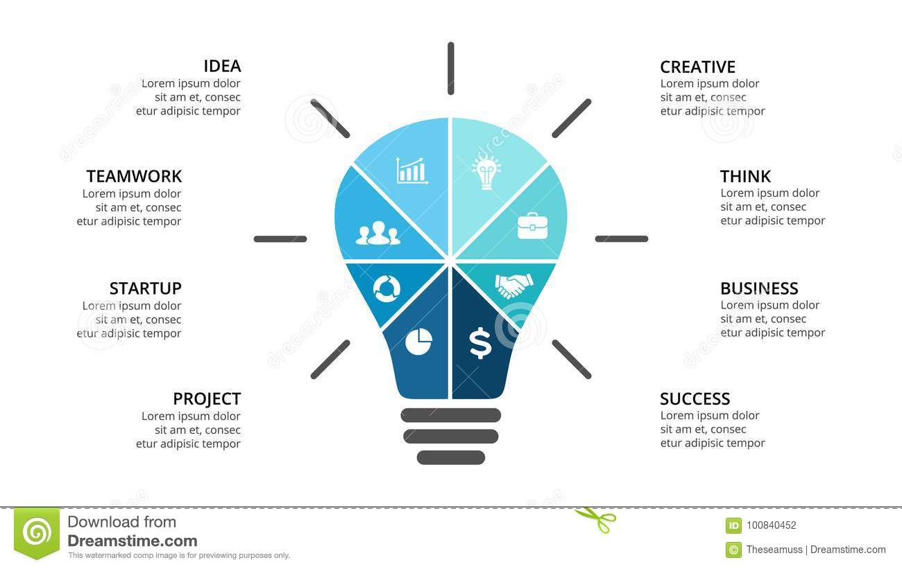 Vector Light Bulb Infographic Template For Diagram Graph Idea With Creative Layout Your Options Or Steps Abstract Background