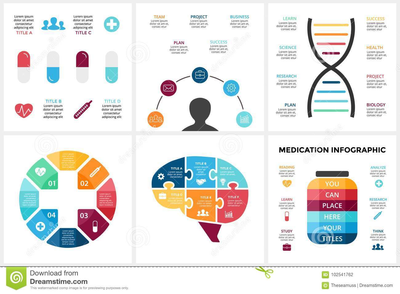 Vector Medicine Infographic Template For Human Brain Diagram Healthcare Graph Doctor Presentation